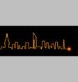 montevideo light streak skyline vector image vector image
