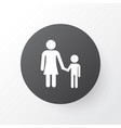mother with child icon symbol premium quality vector image vector image