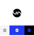 n in circle minimalism logo letters n vector image
