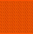 orange brick wall seamless texture vector image