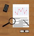 paper report analytics vector image vector image