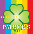 patrick day label vector image vector image