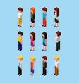people characters avatar team cartoon isometric vector image