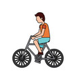 person riding bike icon image vector image vector image