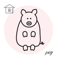 pig thin line icon vector image