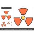 Radiation line icon vector image