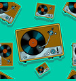 record player turntable seamless vector image vector image