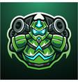 robot esport mascot logo design vector image vector image