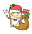 santa with gift burrito mascot cartoon style vector image vector image