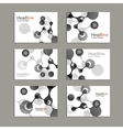 Science cover template background with molecules vector image vector image
