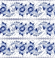 Seamless blue floral Russian pattern in gzhel styl vector image vector image