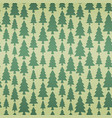 seamless pattern with fir trees in retro colors vector image vector image