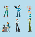 set of different women vector image