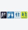 set of restroom placard sign vector image