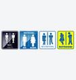 set restroom placard sign vector image