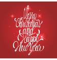 Shining new year and merry christmas decoration vector image vector image