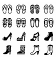 Shoes icon set vector image vector image