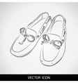 Silhouette of shoes on a gray background vector image vector image