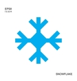Snowflake blue icon isolated on white background vector image vector image