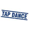 square grunge blue tap dance stamp vector image