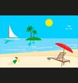 sunny day landscape beach vector image