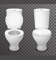 toilet ceramic seat open closed 3d isolated icon vector image vector image