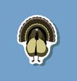 turkey paper sticker on stylish background vector image vector image