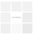 Upholstery texture seamless collection vector image