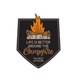 vintage camping logo adventure emblem vector image vector image
