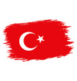 vintage turkish flag vector image vector image
