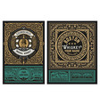 western label packing for liquors or other vector image