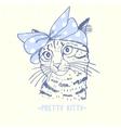 pretty kitty vector image