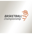 Template logo for the championship in vector image