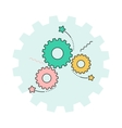 gear and ideas vector image