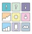Pastel icon set vector image
