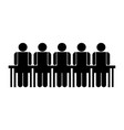 people in meeting symbol vector image