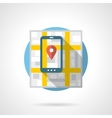 Mobile navigation detailed flat color icon vector image
