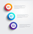 3 colorful marker shapes line infographic vector image vector image