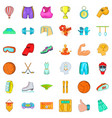 active sports icons set cartoon style vector image vector image