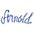 arnold name lettering tinsels vector image vector image