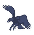 attacking eagle with spread wings vector image vector image
