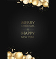 banner with christmas gold balls and space vector image vector image