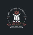 barbecue grill emblem vector image vector image