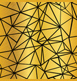 black and golden foil geometric mosaic vector image vector image