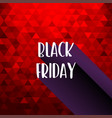black friday sale red background texture vector image