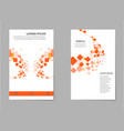brochure design template flyers report business vector image vector image