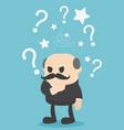 businessman confused businessman think hard vector image vector image