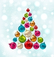 Christmas Abstract Tree Made in Colorful Balls vector image vector image
