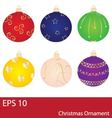 Christmas Balls Ornament Collection vector image vector image