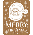 christmas card with santa on wood background vector image vector image